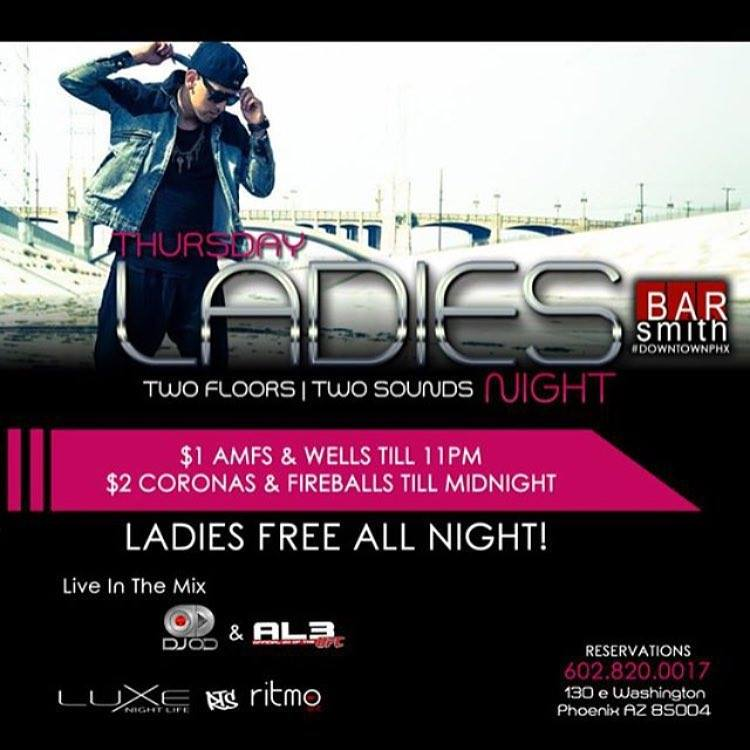 Ladies Night - 21+ @ Bar Smith | Phoenix | Arizona | United States